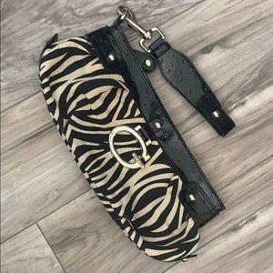 Guess zebra purse